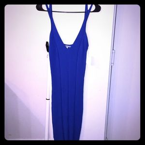 Fitted Body dress with low V shape in front
